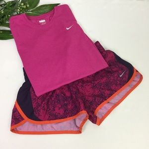 Nike Dri-Fit Athletic T-shirt/Shorts Bundle Sz S